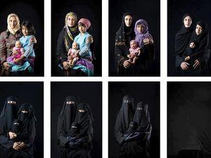 CLIQUEZ SUR LES PHOTOS POUR PLEINEMENT LES VISUALISER! La première photo de la femme à la muselière a été prise à Abou Dhabi en août 2016 par Philippe Karsenty. La troisième représente trois femmes assassinées parce-qu'elles ne voulaient pas porter le voile!!!