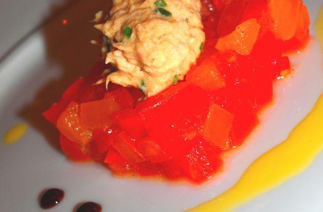 Tartare de tomates & rillette de thon