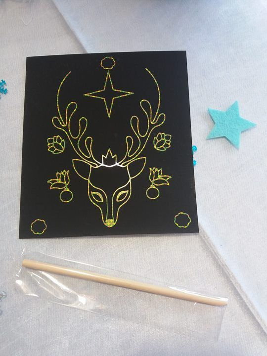 Cartes à gratter - Le bel hiver - Activités manuelles pour enfants - les ateliers du calme avec les Editions Deux Coqs D'Or