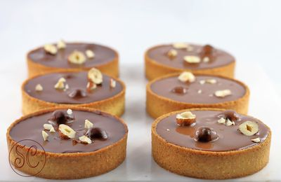 Tartelettes croustillantes poire / chocolat