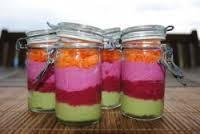 Les verrines multicolores, L'autre recette du mois de juin