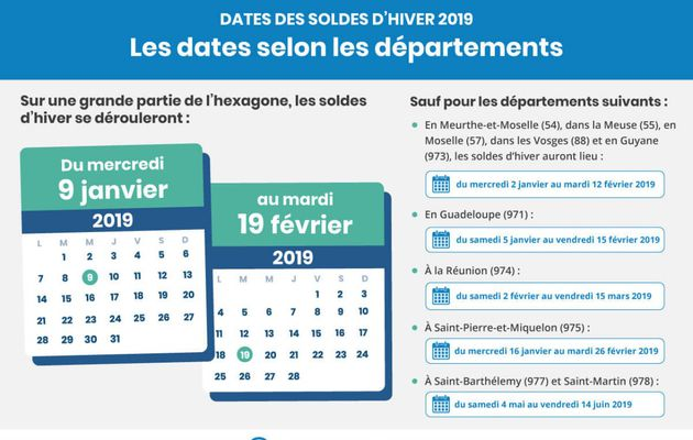Soldes hivers 2019 date