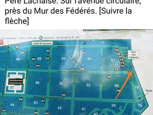 11 Juin 2021, 11h, cimetière parisien du Père-Lachaise hommage à Josette et Maurice Audin
