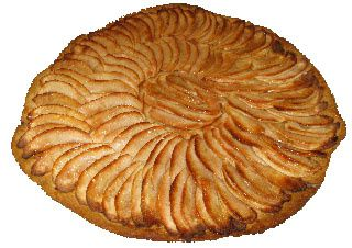 Tarte fine aux pommes (Thin apple pie)
