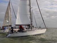 Le grand départ de La Rochelle accompagné par des amis en bateau aussi !