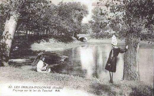 Le lac du Tanchet au Château d'Olonne
