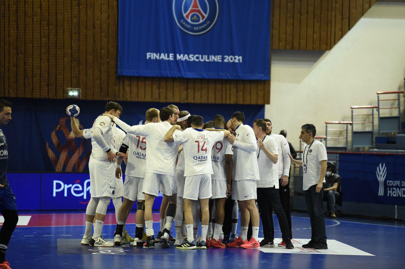 Les parisiens remportent la Coupe de France face à Montpellier (30-26) -credit photos @twitter PSG handball