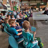 ARD-Morgenmagazin aus Veitshöchheim: 16 Kindern der AWO-Mittagsbetreuung gab Redakteur Uwe Kirchner einen Einblick hinter die Kulissen - Veitshöchheim News