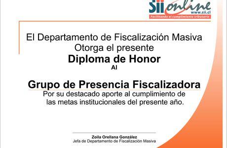 Diseño e Impresión de Diplomas para SII de Chile