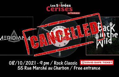🎵 08/10/2021 : Meridian4 + Back in the Wild @ Rock Classic - 55, rue Maché au Charbon à 1000 Bruxelles - 21h00 - Entrée gratuite / Free entrance