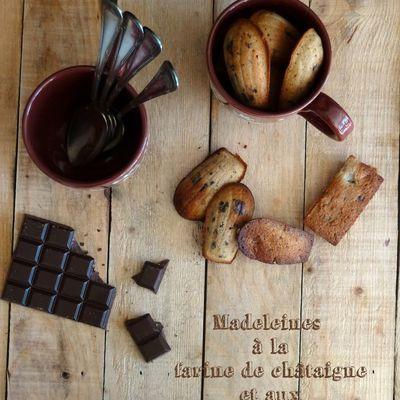 Madeleines à la farine de chataigne et pépites de chocolat