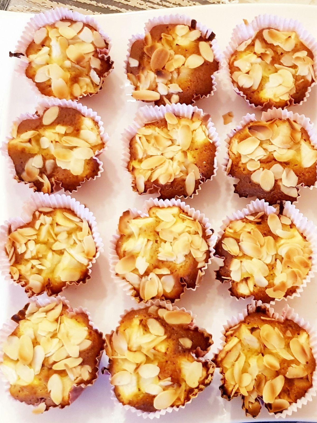 Muffins pomme amandes