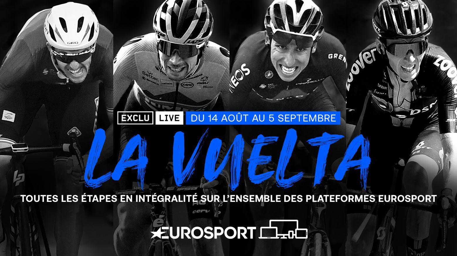 La Vuelta 2021 à suivre en direct et en exclusivité sur les antennes d'Eurosport