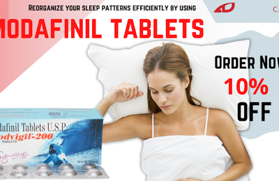 Reorganize your sleep patterns efficiently by using modafinil tablets