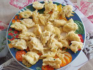 Quenelles de fromage blanc à l'Alsacienne  -  Kaesknepfle