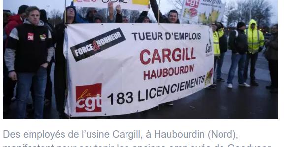 La CGT CARGIL Haubourdin lance un site pour répertorier TOUS les plans de licenciements