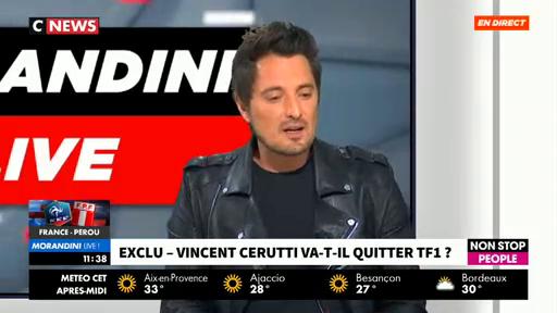 """Vincent Cerutti refuse d'intégrer TPMP :  """"Je ne pense pas avoir de légitimité à commenter le travail des autres"""""""