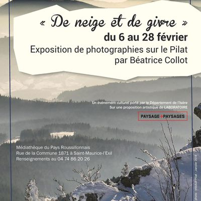 """Exposition """"De neige et de givre"""" du 6 au 28 février 2018 à St Maurice L'Exil"""