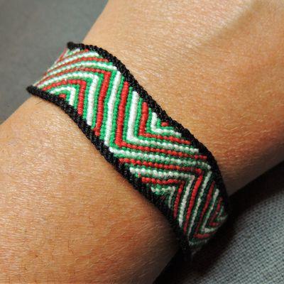 Bracelet brésilien motif zébré avec bordure