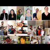 Projet Mayla/Paris. Réalisé en confinement. Plusieurs nationalités jouent la même chanson (trad. fr)