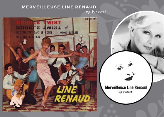 45 TOURS: 1962 Pathé - 45 EG 590 - Line Renaud Double Twist