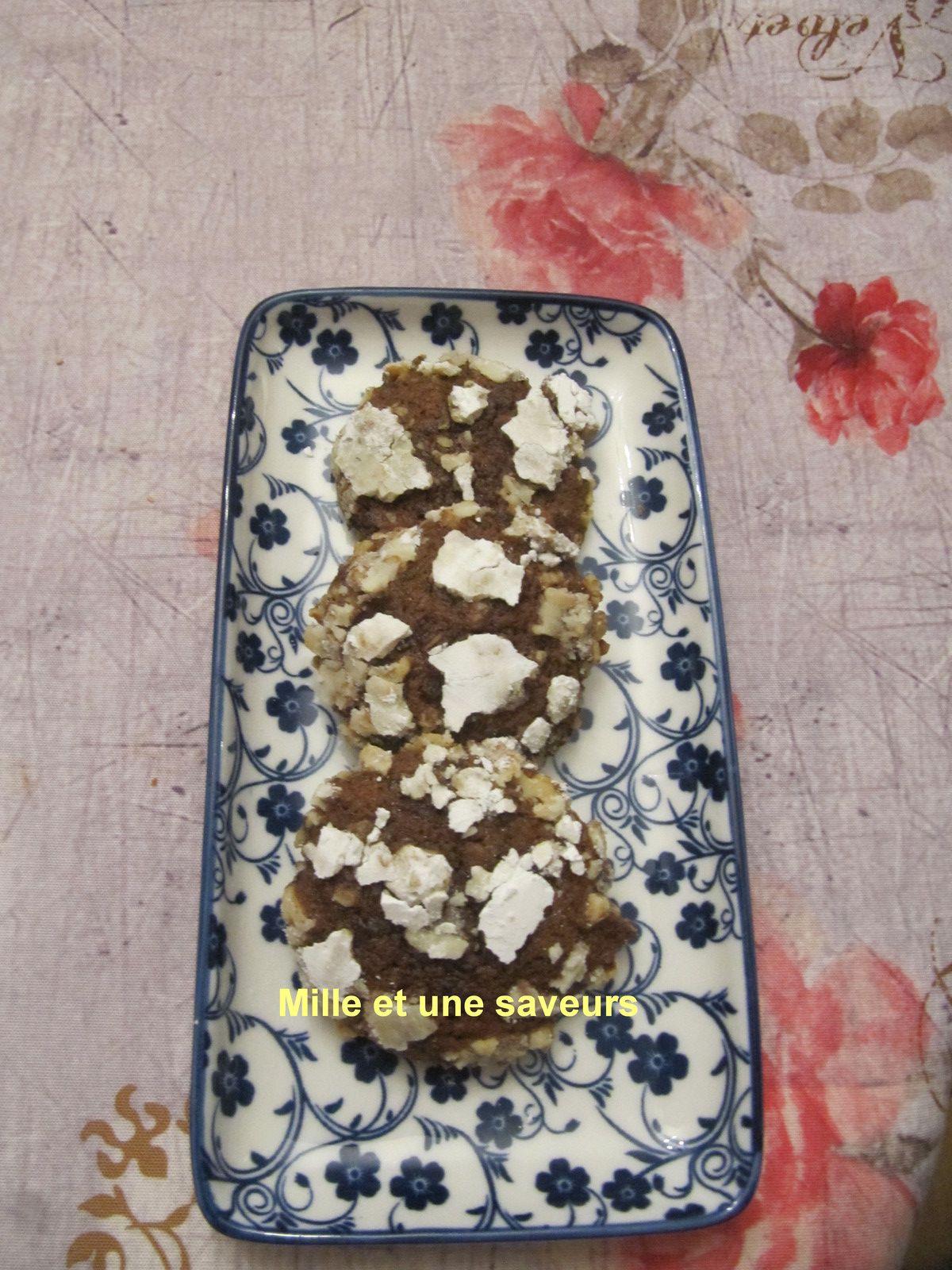 cookies chocolat, banane et noix