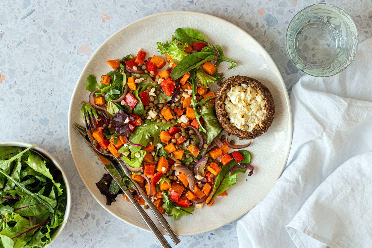 salade de lentilles patate douce végétarien