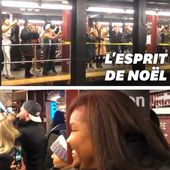 "Ces fans de Mariah Carey improvisent ""All I want for Christmas is you"" dans le métro"