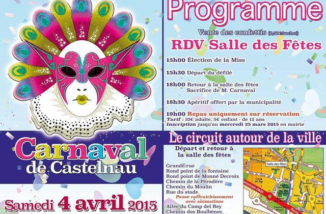 4 AVRIL 2015 : CARNAVAL A CASTELNAU D'ESTRETEFONDS