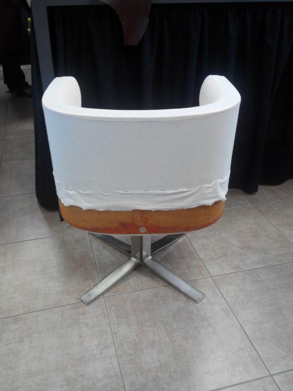 paire fauteuil pivotant année 50