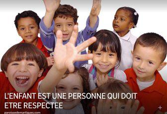 L'ENFANT EST UNE PERSONNE QUI DOIT ETRE RESPECTEE