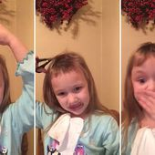 Adorable video shows young girl attempting to cut her own hair