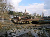 Port de plaisance et port-musée de Port-Rhu, années 2000.