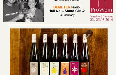 Nous serons à Prowein !! We will be at Prowein !!