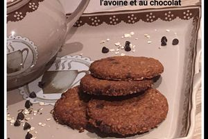 Biscuits croustillants vegan et sans gluten avoine & chocolat