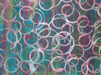 Empreintes de ronds sur les fonds  faits à la manière de G.Richter.