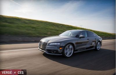 Audi's A7 Sportback is driving itself more than 550 miles to CES this year
