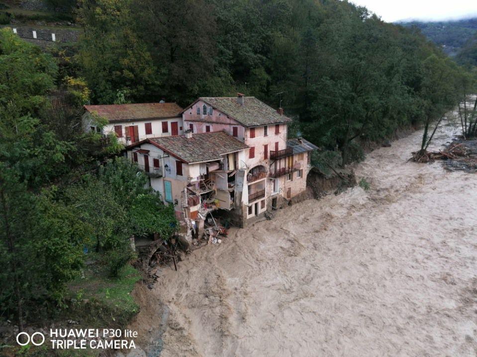 Ma maison détruite dans la vallée de la Vésubie...
