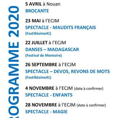 L'association Vivre St Laurent Nouan vous présente ses meilleurs voeux et son nouvel agenda pour 2020