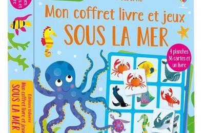 Jouer et découvrir #96 – Mon coffret livre et jeux « Sous la mer » - Usborne – 2020 (Dès 3 ans)