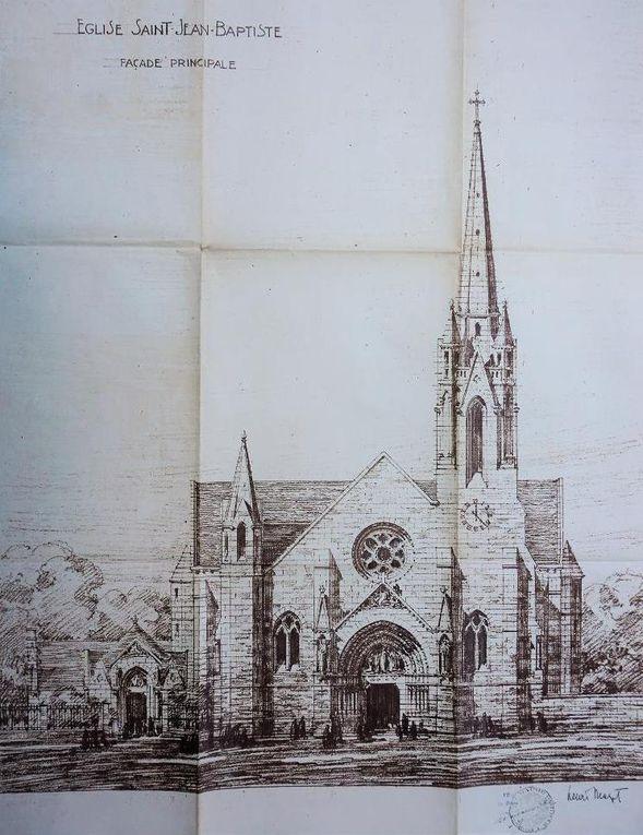 Premiers plans, Henri Mazet, architecte. (source : archives municipales)