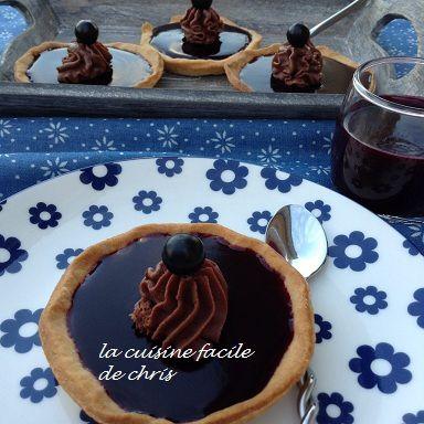 Tartelettes cassis et chocolat