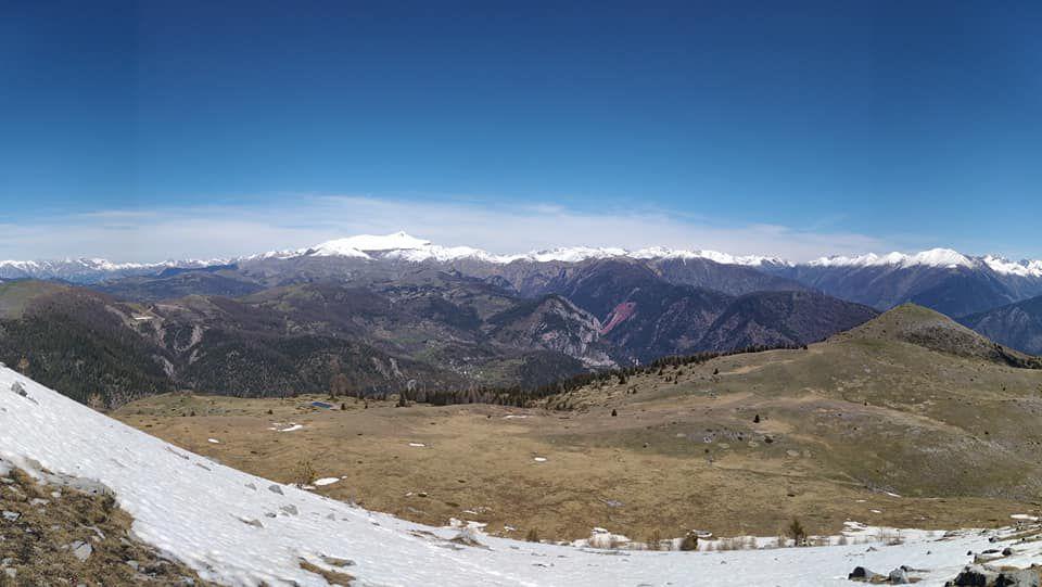 Mont Mounier et panorama depuis le Lauvet d'Ilonse