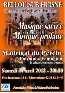 Concert du Madrigal du Perche
