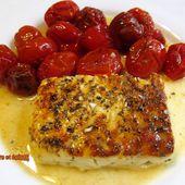 Feta grillée avec des tomates cerises - sucreetepices.over-blog.com