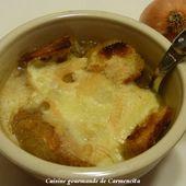Soupe gratinée à l'oignon et au Munster - Cuisine gourmande de Carmencita