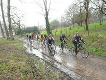 Concentration cyclotouriste UFOLEP à Exideuil du 10 février 2013