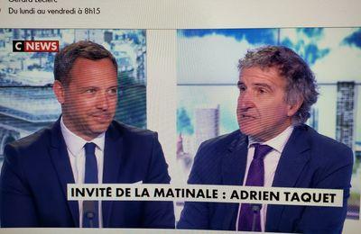 """Adrien TAQUET : """"on va être en soutien des écologistes à Colombes """""""