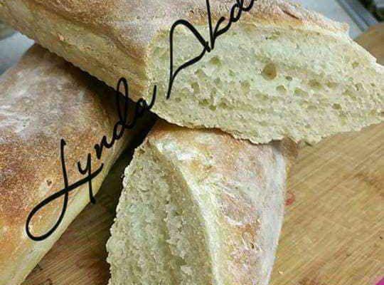 Recette de pain a la farine.baguette Parisienne
