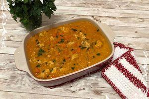 Dahl de lentilles corail, dinde, curry & lait de coco
